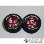 3/32 x 1 1/16 x .435 Red Evolution Drag Wheels