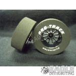 3/32 x 1 3/16 x .435 Black Turbine Drag Wheels