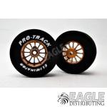 3/32 x 1 3/16 x .435 Gold Turbine Drag Wheels