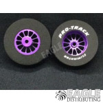 3/32 x 1 3/16 x .435 Purple Turbine Drag Wheels