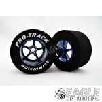 1/8 x 1 1/16 x .500 Blue Pro Star Drag Wheels