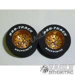 3/32 x 1 1/16 x .500 Gold Top Fuel Drag Wheels
