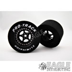 3/32 x 1 1/16 x .500 3D Black Star Drag Wheels