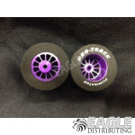3/32 x 1 1/16 x .500 Purple Turbine Drag Wheels