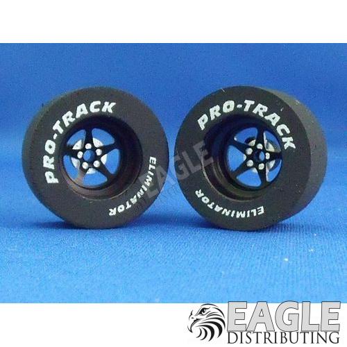 Pro Star Series CNC Drag Rears, 3D Design,  1 1/16  x .500, Black