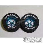3/32 x 1 1/16 x .500 Blue Pro Star Drag Wheels