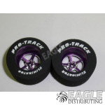 3/32 x 1 1/16 x .500 Purple Pro Star Drag Wheels