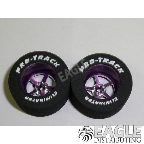 Pro Star Series CNC Drag Rears, 1 1/16 x .500, Purple