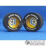 3/32 x 1 1/16 x .500 3D Gold Evolution Drag Wheels