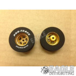 3/32 x 1 3/16 x .500 3D Gold Star Drag Wheels