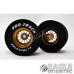 3/32 x 1 3/16 x .500 3D Gold Turbine Drag Wheels