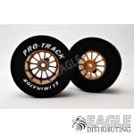 3/32 x 1 3/16 x .500 Gold Turbine Drag Wheels