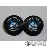 3/32 x 1 3/16 x .500 Blue Pro Star Drag Wheels