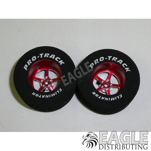 Pro Star Series CNC Drag Rears, 1 3/16 x .500, Red