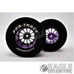 3/32 x 1 5/16 x .500 Purple Turbine Drag Wheels