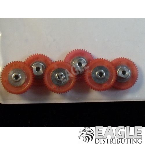 44 Tooth, 80 Pitch, 2mm Bore Straight Polymer Spur Gear