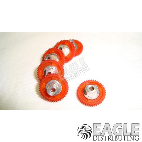 44 Tooth, 80 Pitch, 3/32 Bore Straight Polymer Spur Gear