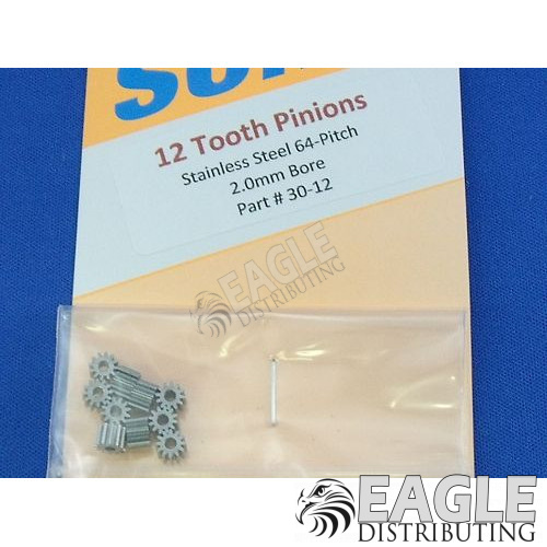 12 tooth 64 pitch precision pinion gear
