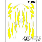 1/24-1/32 Paint Mask - Small Lightning