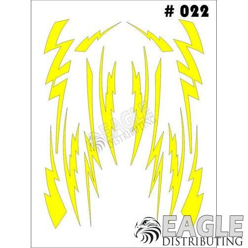 1/24-1/32 Paint Mask - Small Lightning Taylo Racing TAY022