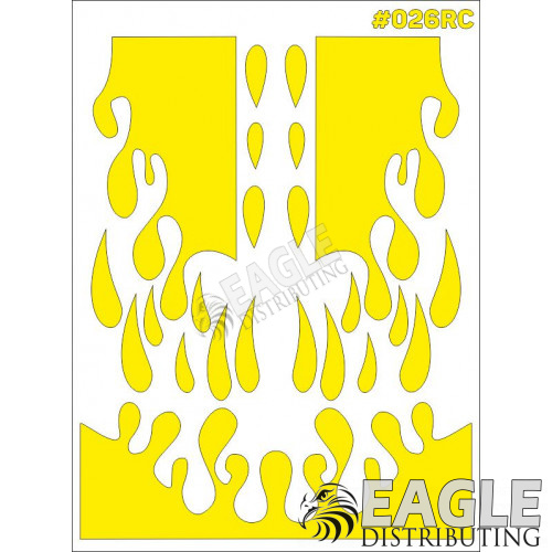 RC paint mask - Drips 7.9 x 10.6 with transfer tape-TAY026RC