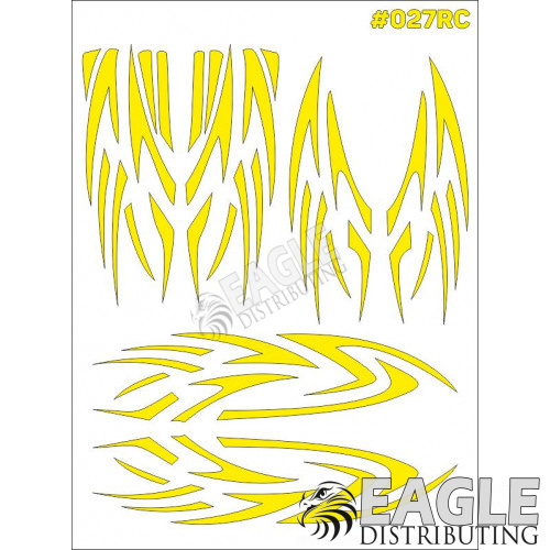 RC paint mask - Graphics 7.9 x 10.6 with transfer tape-TAY027RC