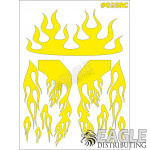 RC paint mask - Flames 7.9 x 10.6 with transfer tape
