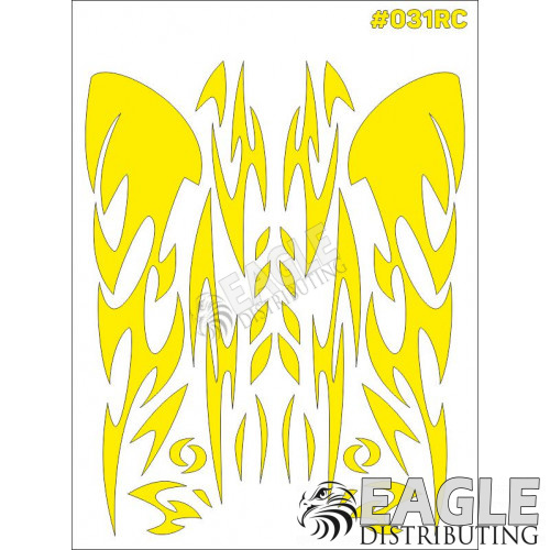 RC paint mask - Graphics 7.9 x 10.6 with transfer tape-TAY031RC