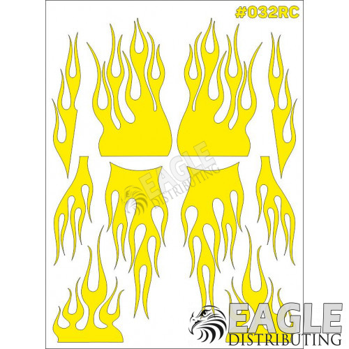 RC paint mask - Flame 7.9 x 10.6 with transfer tape-TAY032RC