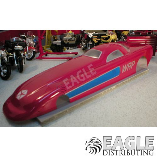 Stratus Funnycar Drag Body, Clear Lexan, w/masks